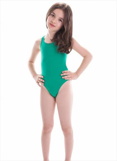 Ayyıldız Kız Çocuk Yüzücü Mayosu Cc0017 Yeşil